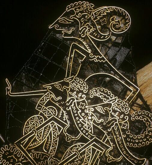 Gambar wayang Rama dan Shinta