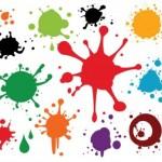 gambar percikan kuas cat tembok warna warni