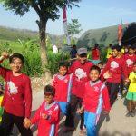 Jalan Sehat Mahasiswa KKNT UNHASY Bersama Warga Desa Asemgede Jombang
