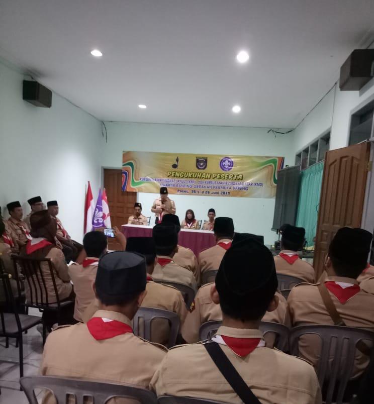 Pengukuhan Pembina Pramuka Hasil KMD dan KML Kwaran Bareng 2018