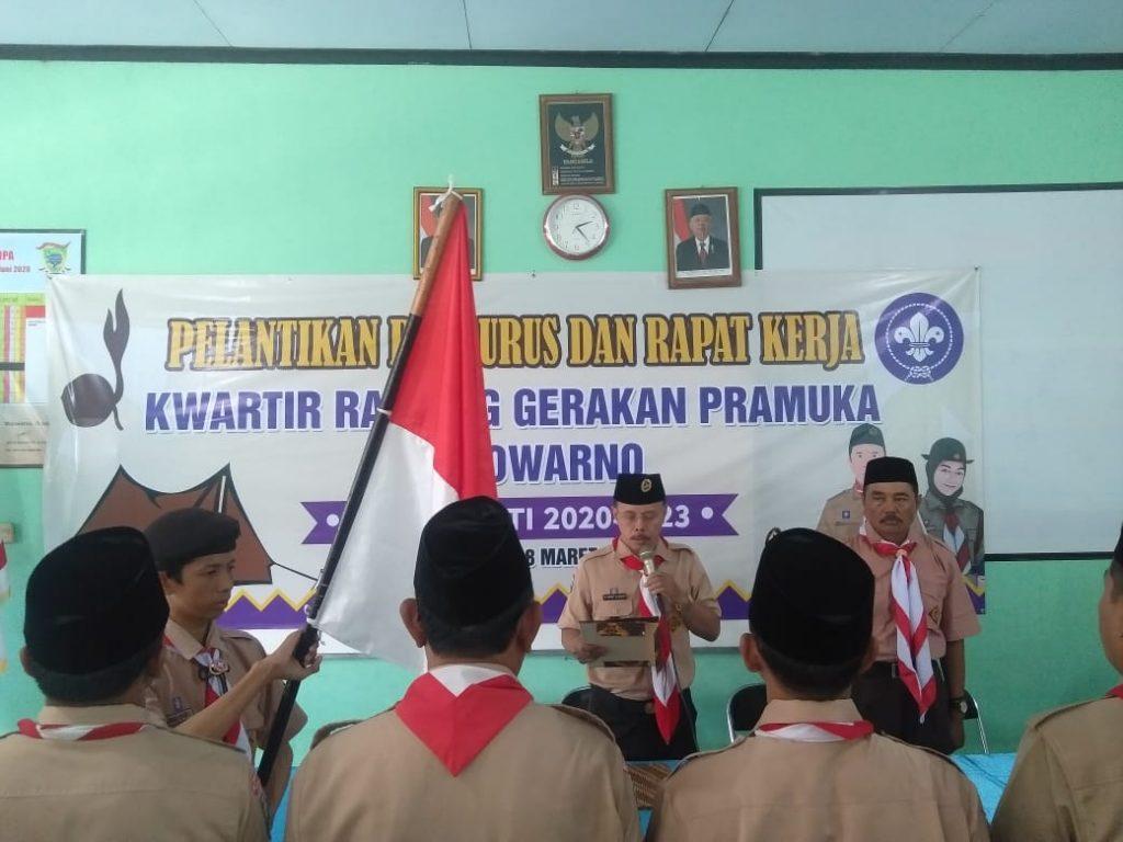 Pelantikan pengurus Kwarran Gerakan Pramuka Mojowarno