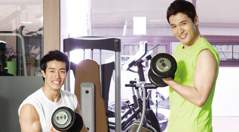 Workout at fitness center - Image taken from Travys Kim Facebook Fanspage